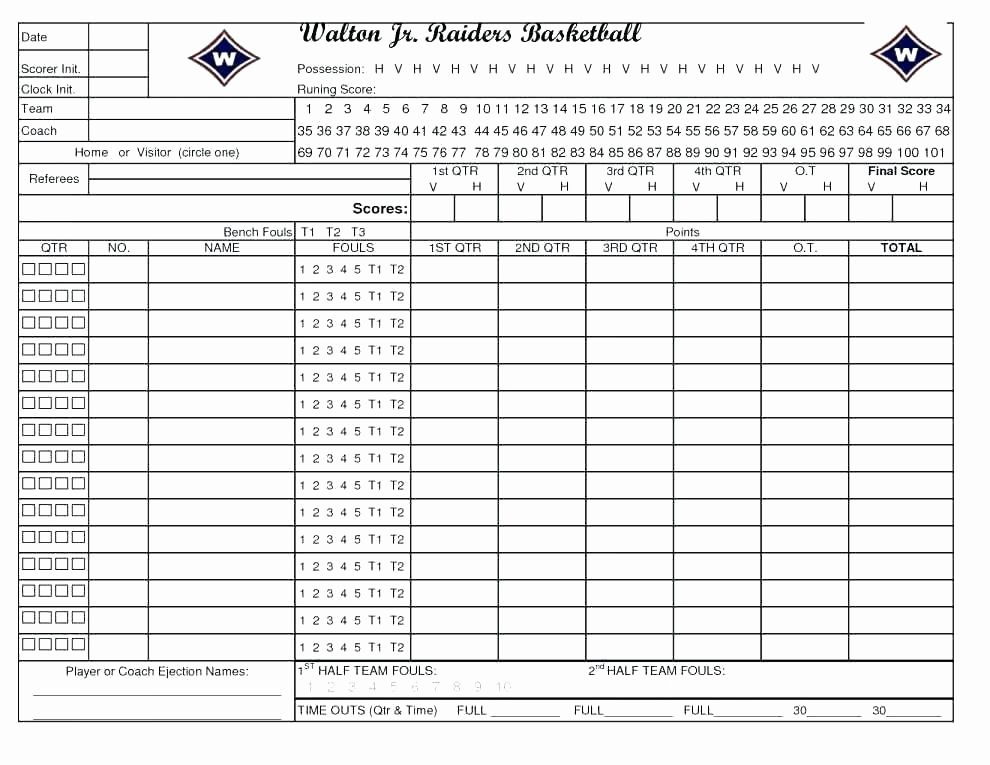 Volleyball Statistics Sheet Template Best Of Free Football