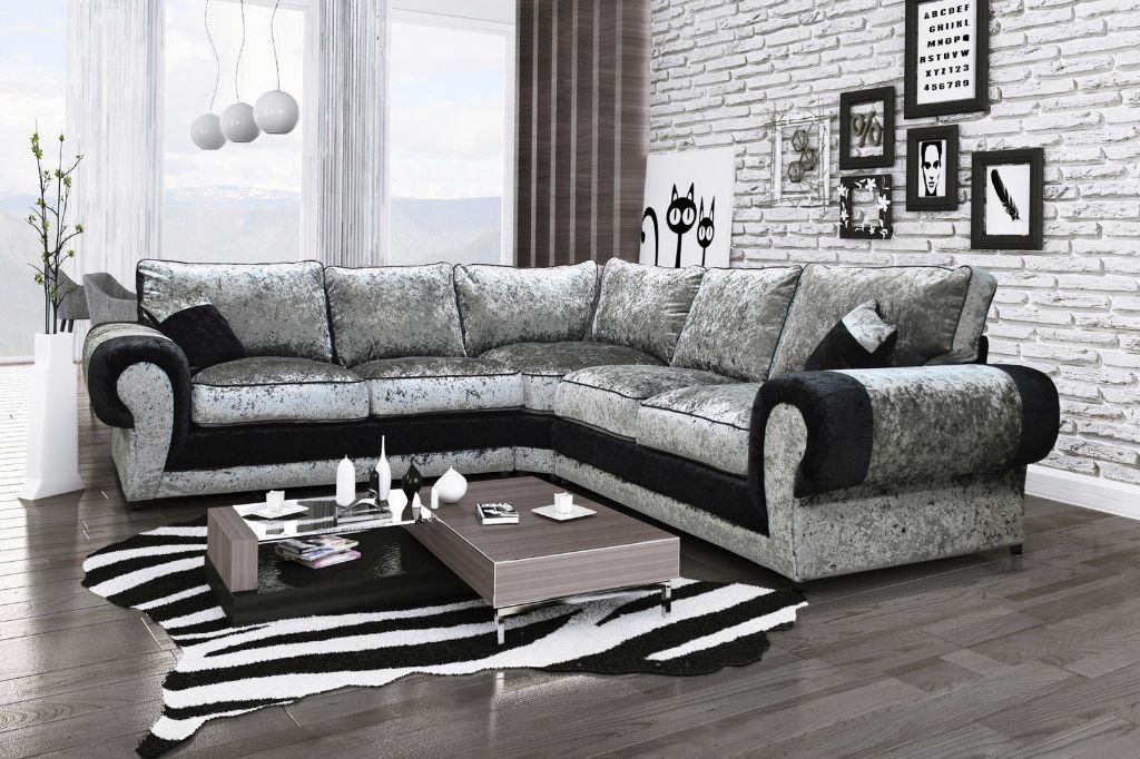 White Leather Corner Sofa Gumtree In 2020 With Images Leather Corner Sofa Corner Sofa Velvet Corner Sofa