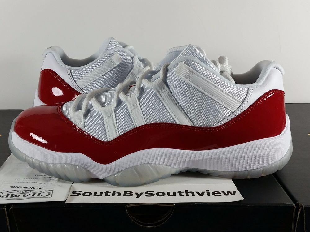 23ed685e05d5 Nike Air Jordan 11 Low Cherry Red With Receipt XI Retro White 528895-102 DS   MichaelJordan  AirJordan  Jordans