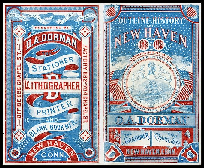 Front and rear covers of booklet