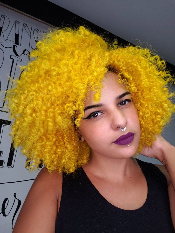 #yellowhair #cabeloamarelo #cachosamarelos