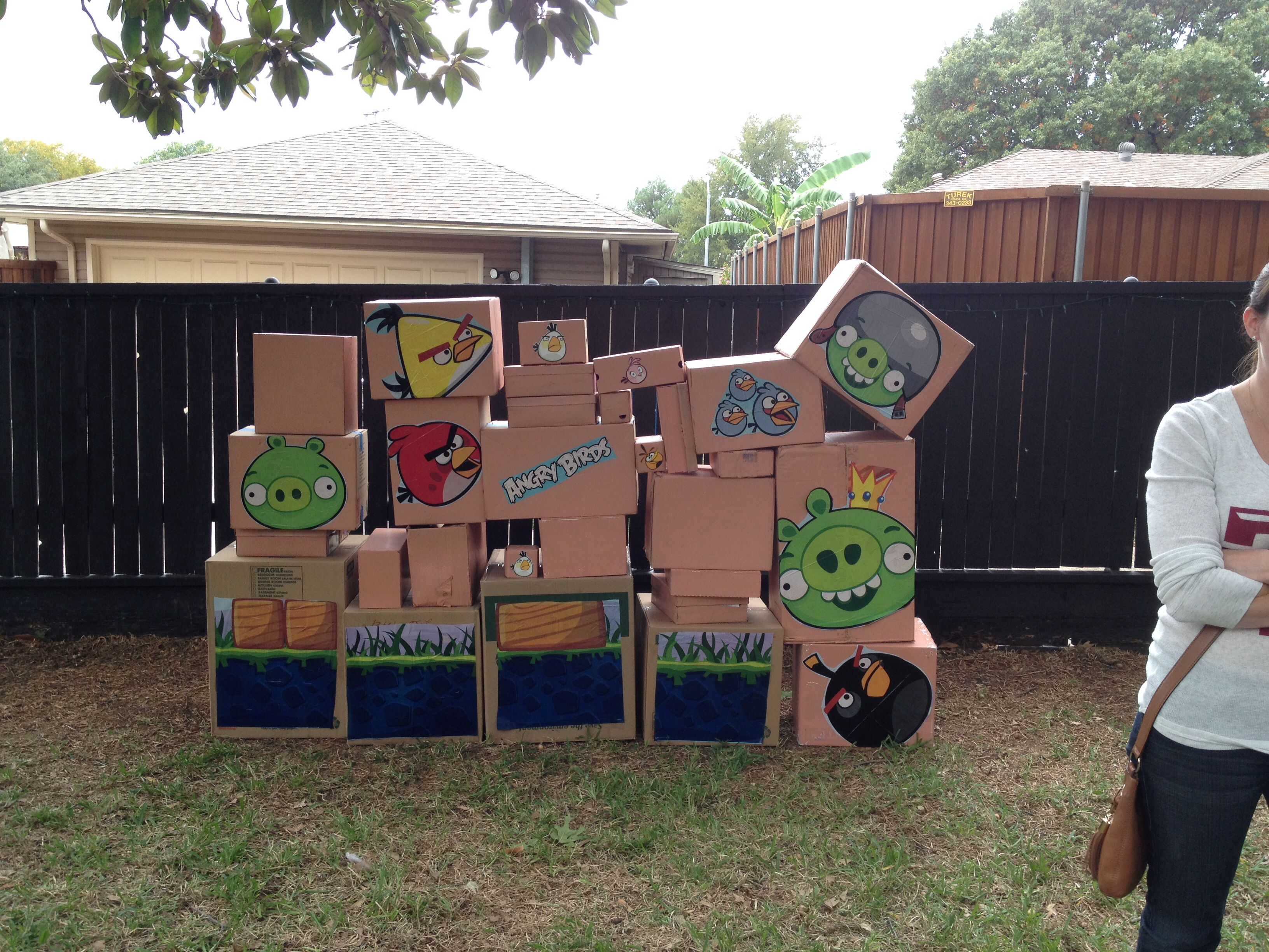 Angrybirds Life Size Backyard Party Game