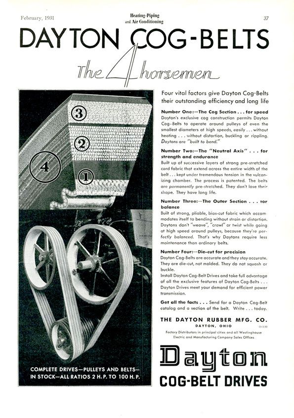 Dayton CogBelt Drives from The Dayton Mfg. Co. Hvac