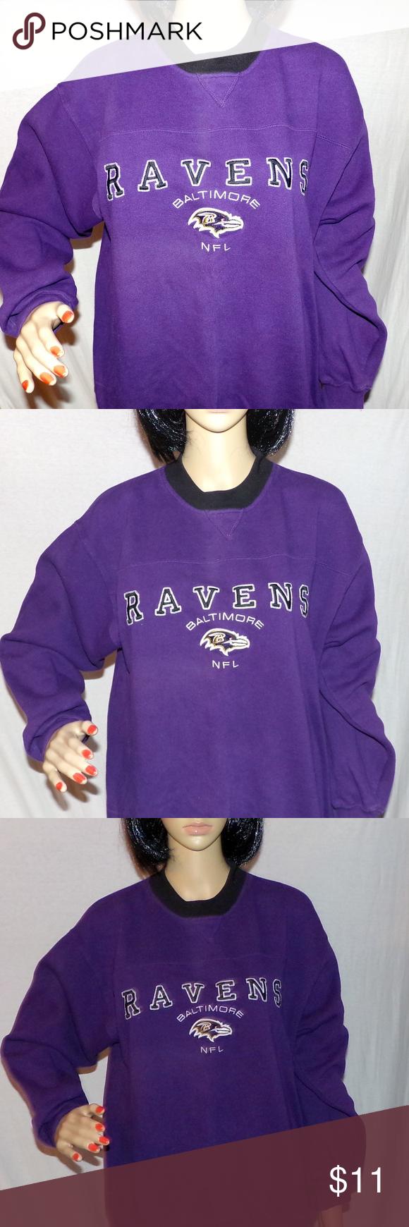 Baltimore Ravens Sweatshirt Embroidered NFL M