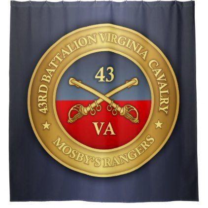 43rd Battalion Virginia Cavalry Mosby S Rangers Shower Curtain Zazzle Com Confederate Cavalry Virginia