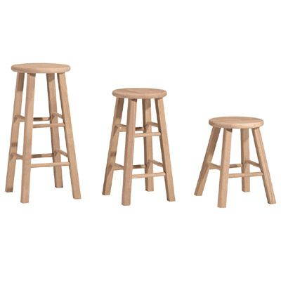 Round Top Bar Stool And Counter Stool Unfinished Furniture Stool Furniture