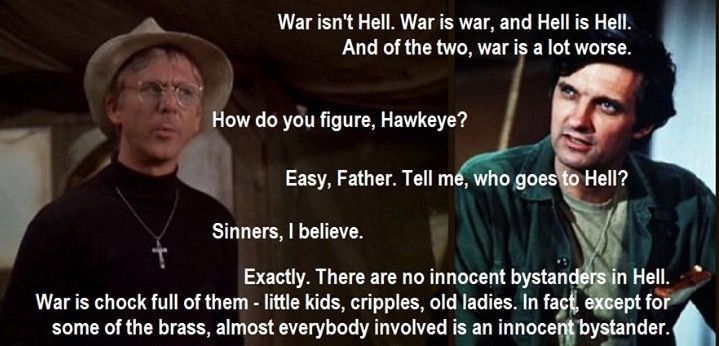 Benjamin Franklin Hawkeye Pierce Chill Quotes War Quotes Tv Show Quotes