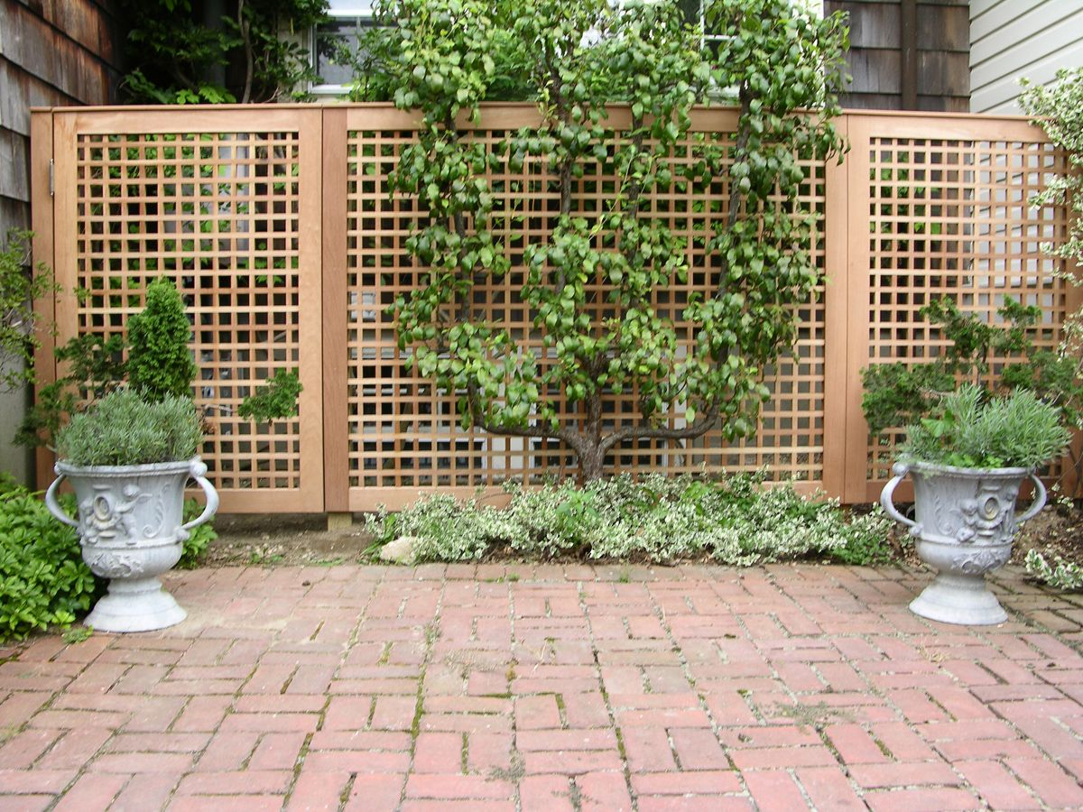 lattice privacy screen garden ideas pinterest