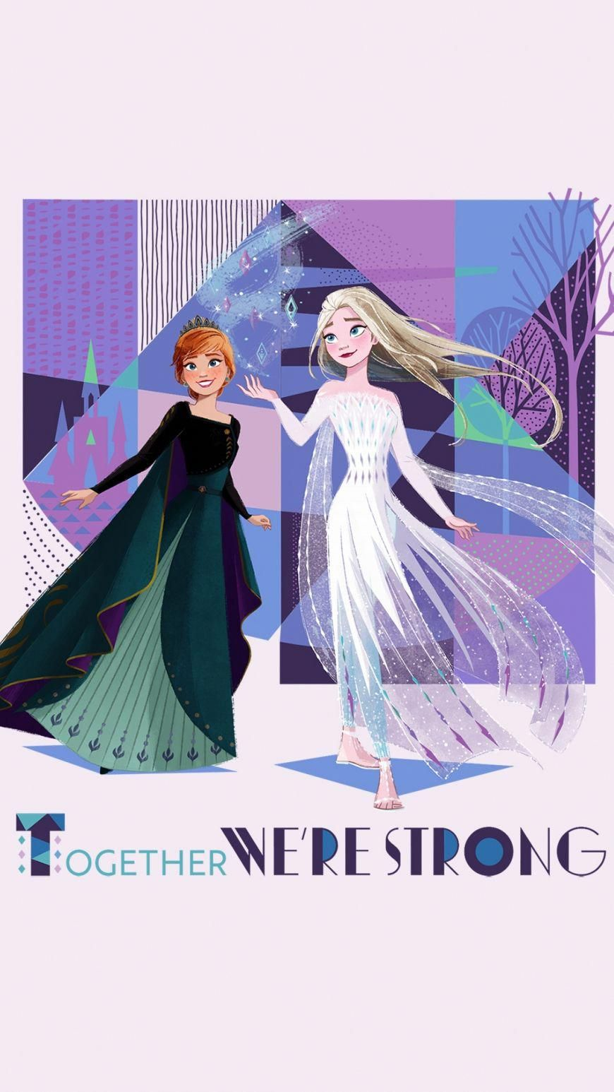Frozen 2 Hd Background Mobile Elsa White Dress And Anna Queen Biotinforhairgrowth In 2020 Disney Princess Wallpaper Disney Princess Frozen Facial Hair Care