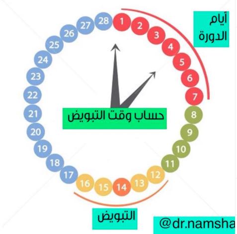 طريقة حساب وقت التبويض وتحديد ايام التبويض الحامل الحمل والولادة In 2020 Telegram Logo Tech Company Logos Pie Chart