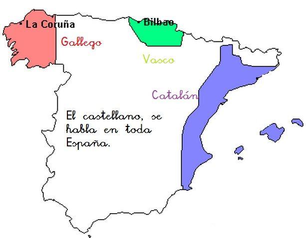 Mapa Lenguas De España.Touch This Image Un Mapa De Las Lenguas En Espana By Sarah