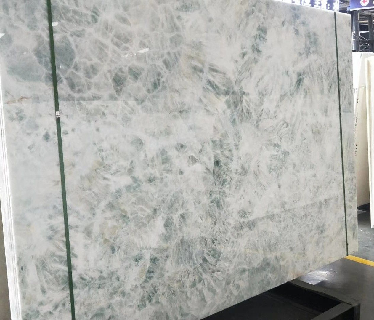 Polished Blue Ice White Onyx Slab Price Onyx Tile Onyx Marble White Onyx