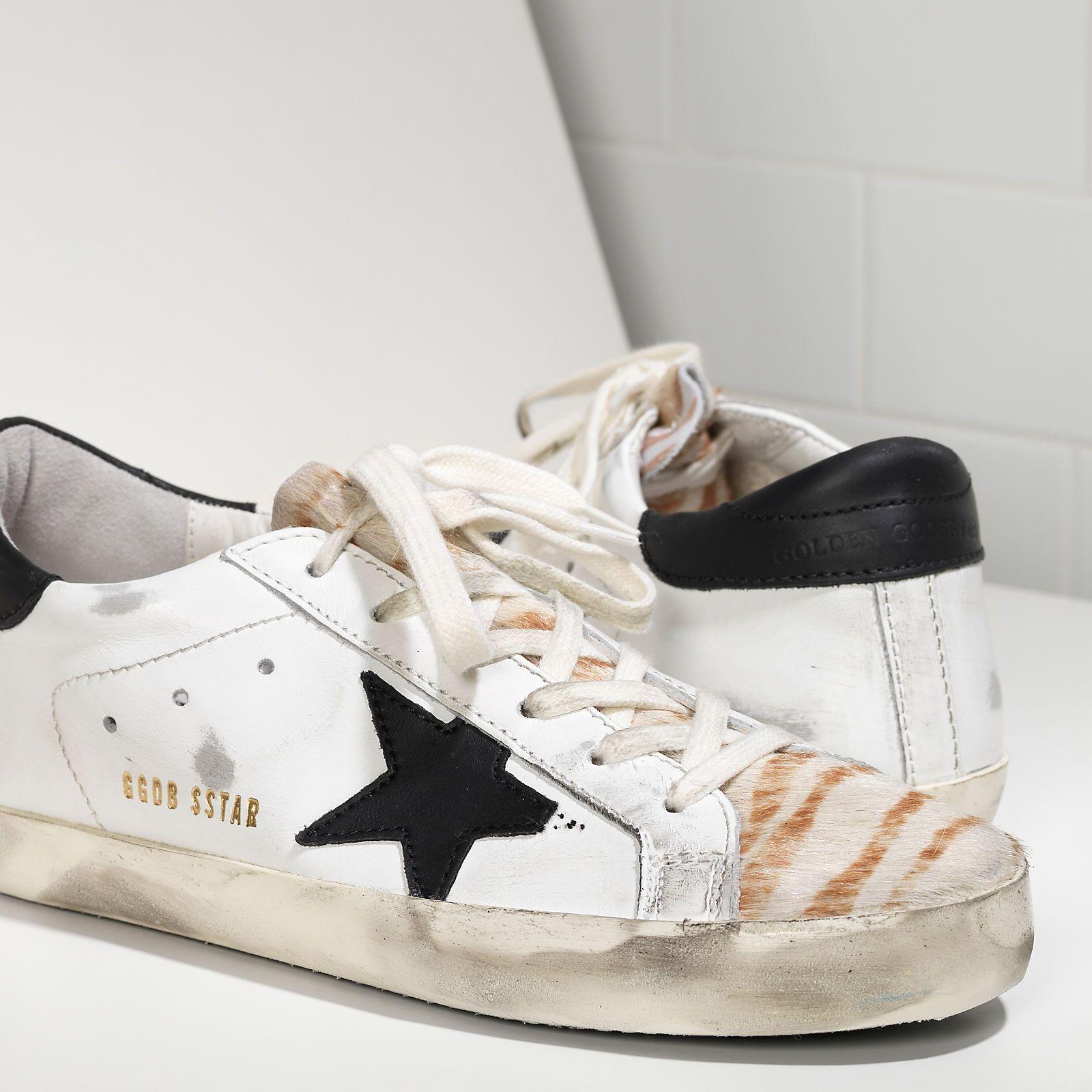 Sneakers SUPER STAR in Pelle e Stella in Pelle - G29WS590.F16 - Golden Goose