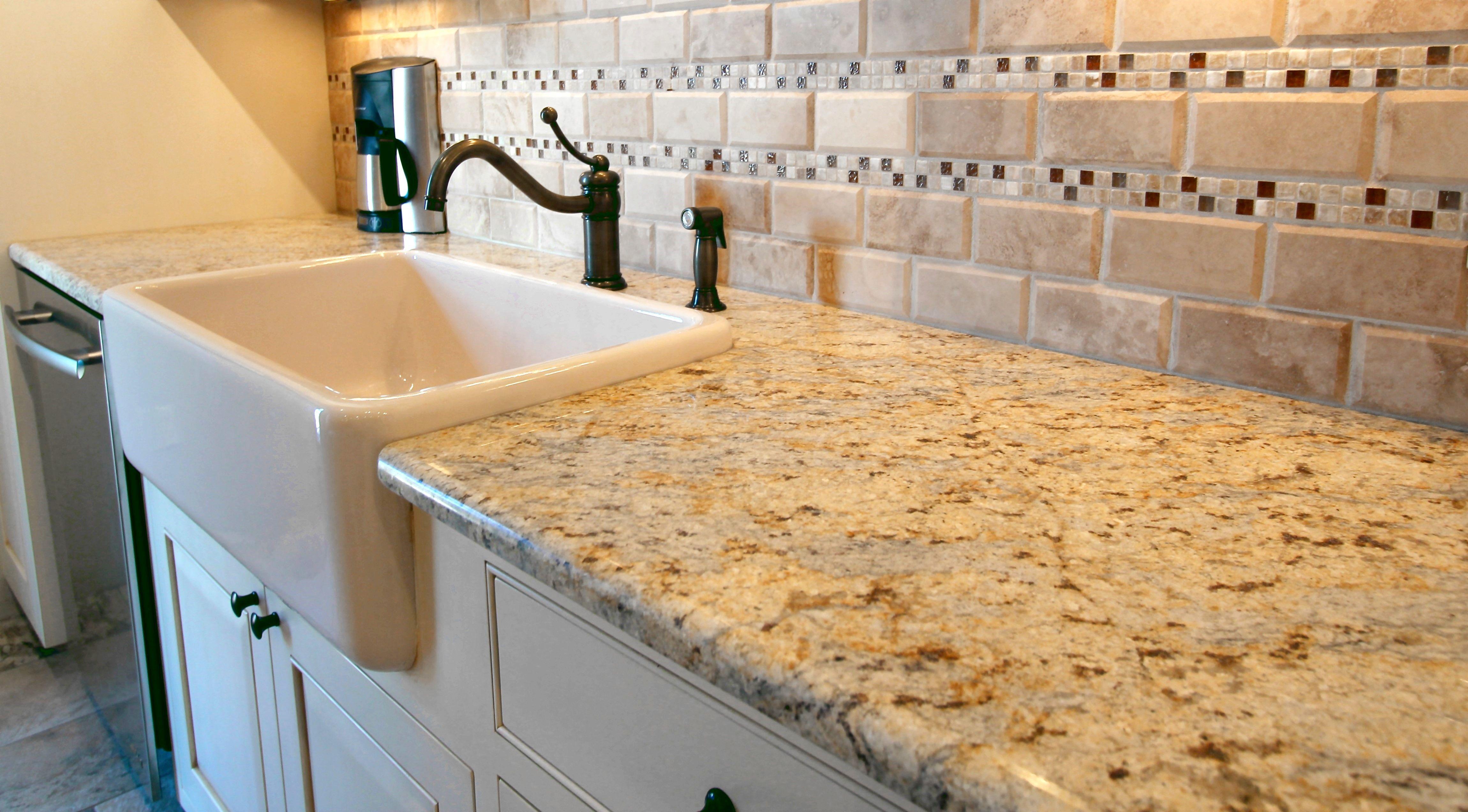 Design Alliance New Mexico Colonial Cream Granite Counters