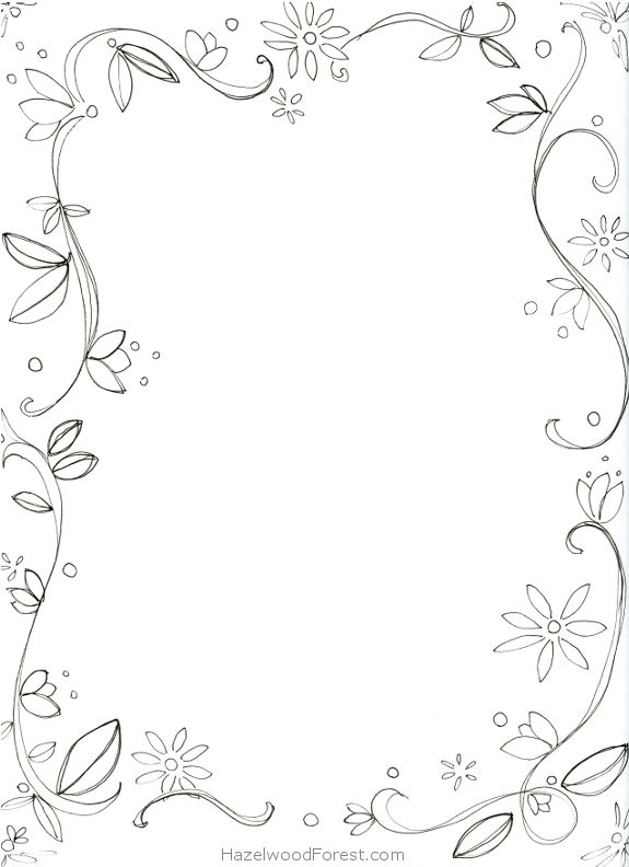 coloring pages flower borders - photo#24