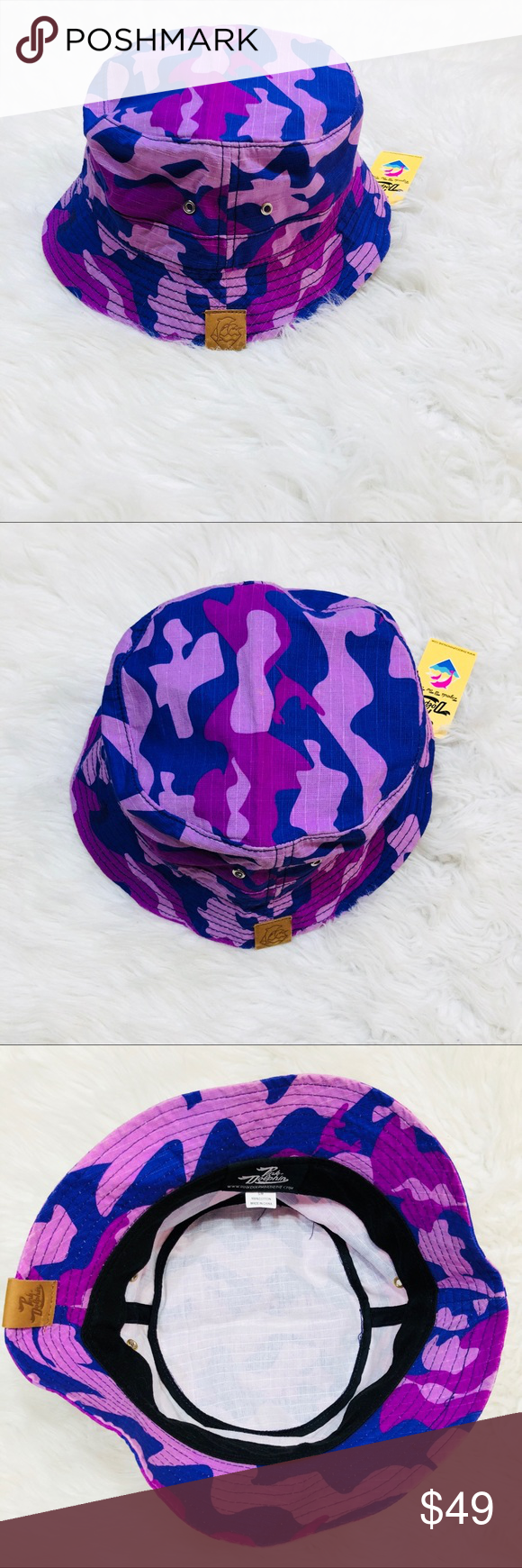 Pink Dolphin Bucket Hat • Brand New w  tags • Awesome purple camo OPEN TO  OFFERS  2979e0be9fcc