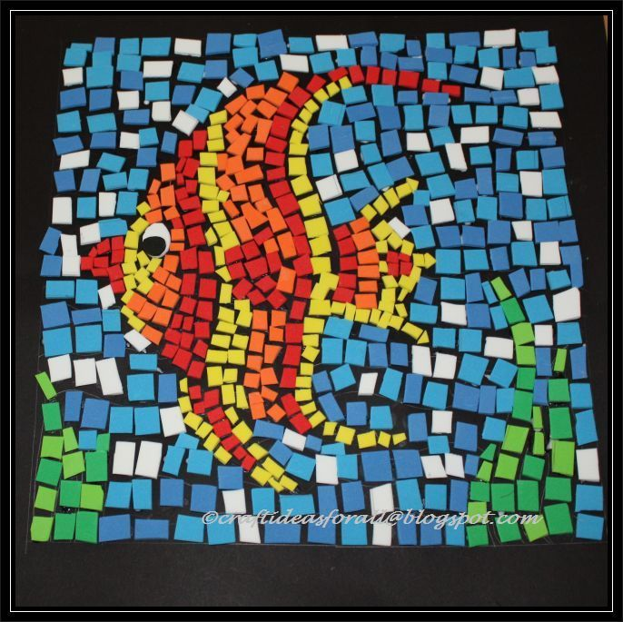 Mosaic art ideas for kids google search miss stacey for Mosaic tiles for craft