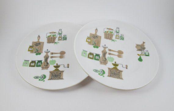 Melamine Plates Dorchester Dinnerware Vintage Mid Century Modern