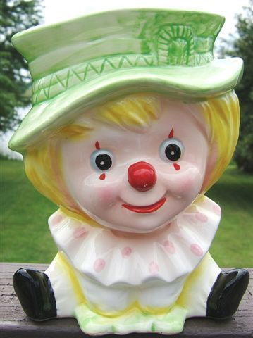 Look what I found on @eBay! http://r.ebay.com/unUGt1 Vintage RELPO Young Clown Ceramic Headvase 6777