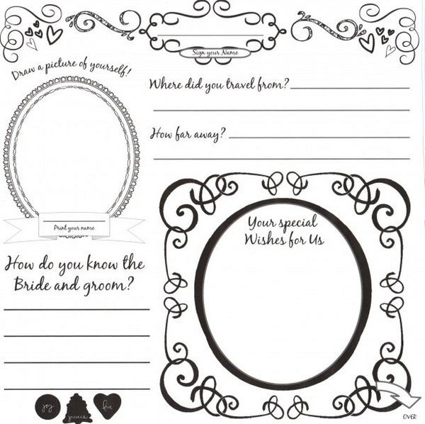Diy Wedding Guestbook Templates  This Is The Front Of Our