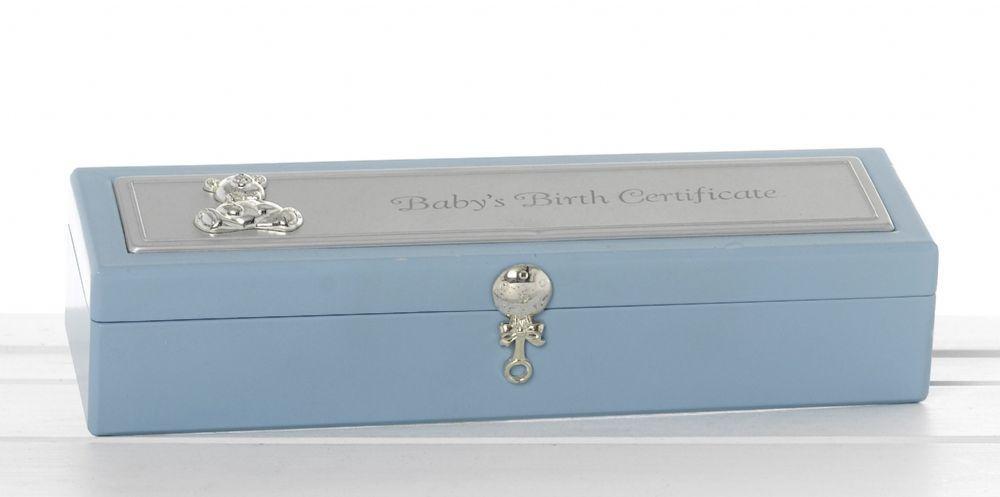 baby birth certificate gift holder
