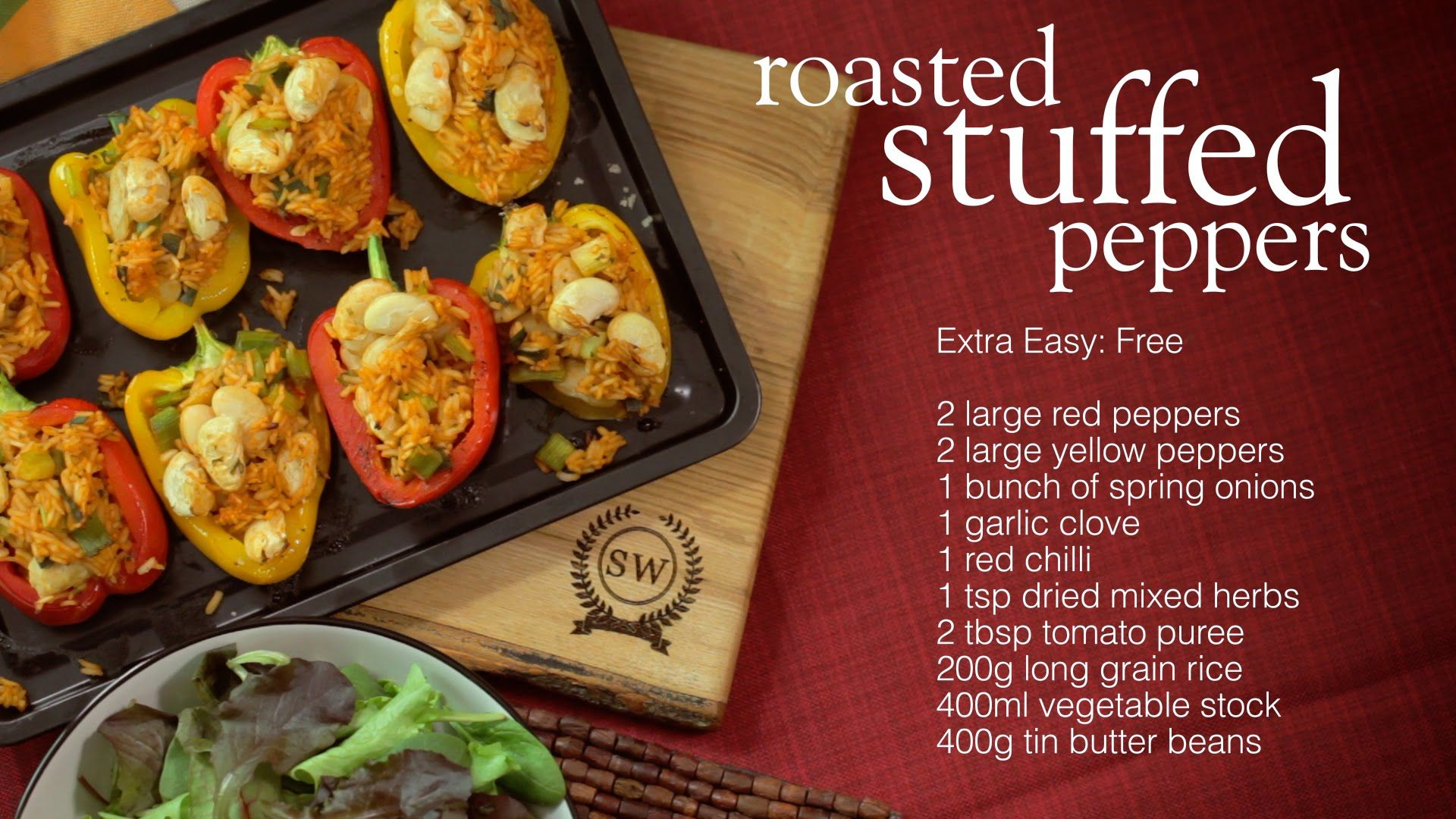 Slimming world roasted stuffed peppers recipe slimming Slimming world recipes for 1 person
