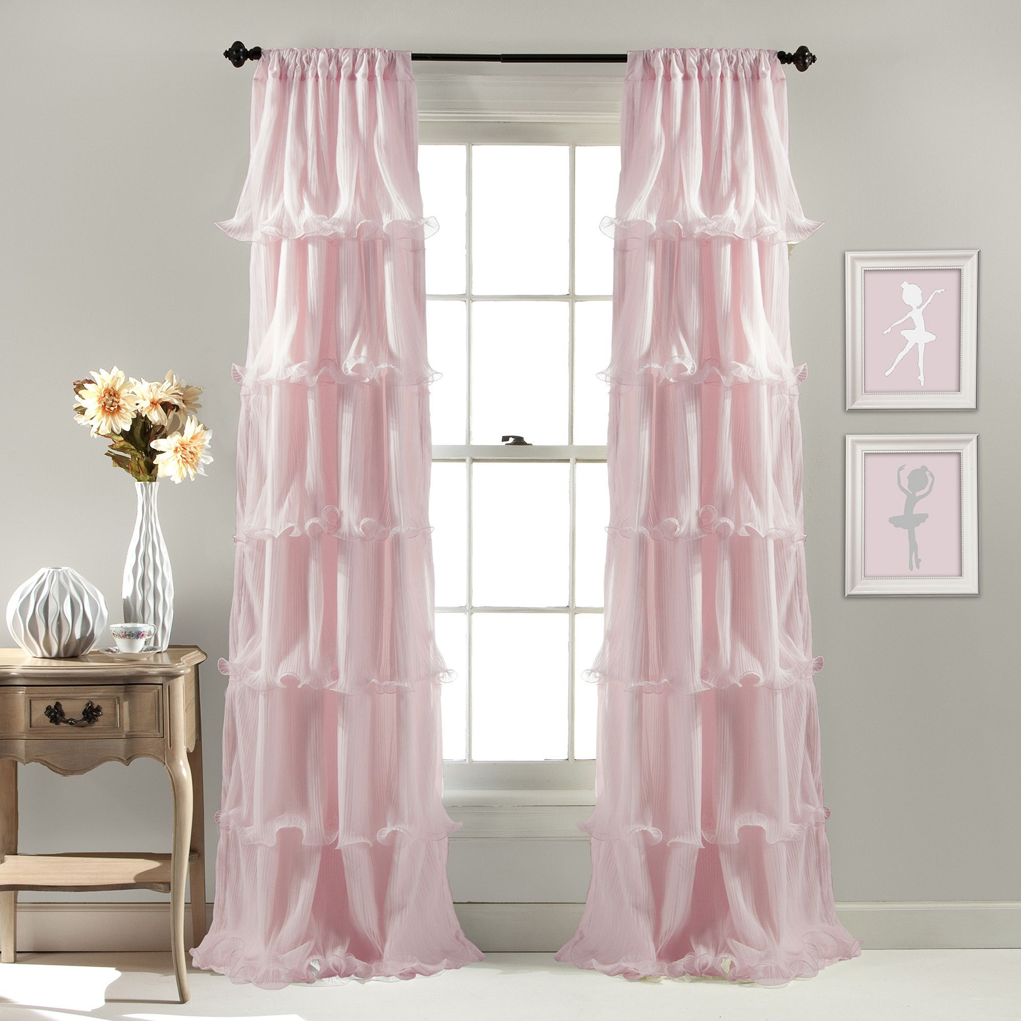 Lush Decor 1 Panel Nerina Sheer Window Curtain 54 X 84