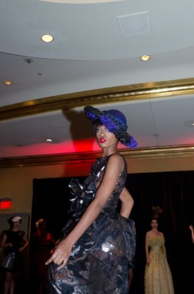 Hat Fashion Show At Salon De The Atlanta Dresses By Nina S Couture Designer Nina Gleyzer Photos Are Courtesy Of Daniel Fashion Fashion Show Hat Fashion