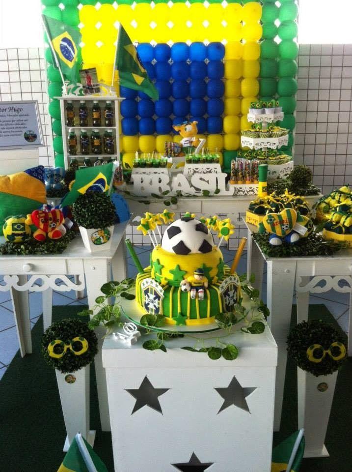 Lu Medina Cupcakes e Delícias: FESTA COPA DO MUNDO 2014