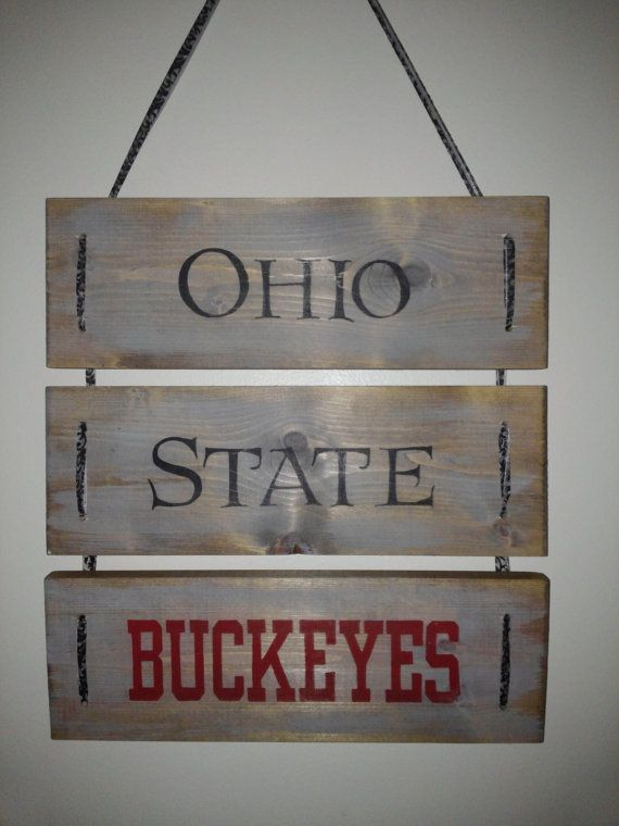Ohio State Buckeyes Wooden Sign By Valacreations Ohio