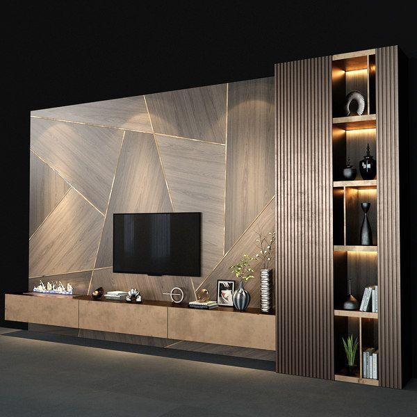 Tv wall model - TurboSquid 1555376