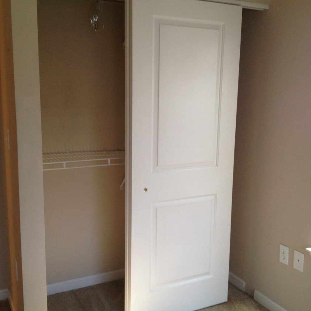 Hanging sliding closet door track togethersandia