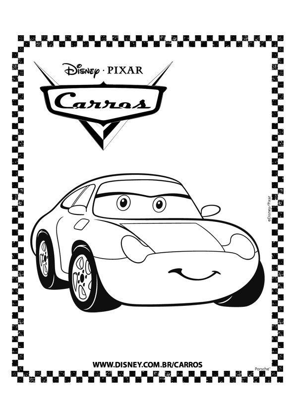 Kleurplaten Cars Disney.Kleurplaat Cars Pixar Sally Kleurplaten Cars