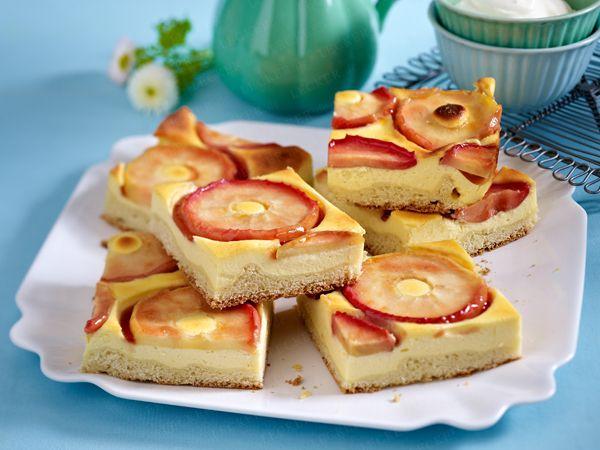 Blechkuchen - die besten Rezepte für einen Klassiker - apfel-schmand-kuchen  Rezept