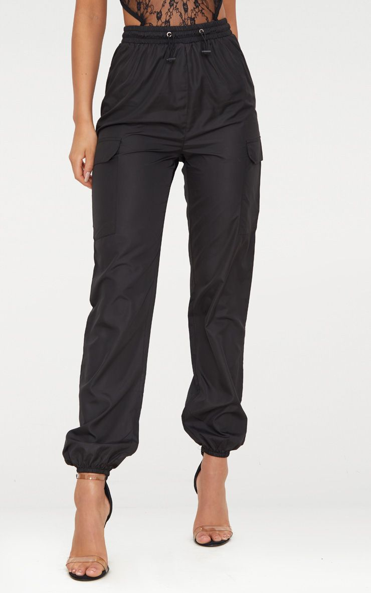 506b68ba491e Black Toggle Waist Shell Suit Joggers in 2019 | Bad & Boujee | Shell ...