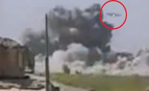 Secret Spaceship TR-3B of US filmed in combat in Afghanistan
