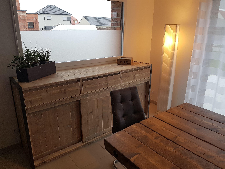 Buffet En 210 Cm De Chez Pays Bois Avec Cadre Metallique 3 Portes Coulissantes Et 3 Tiroirs Mobilier De Salon Meuble Maison Decoration Maison