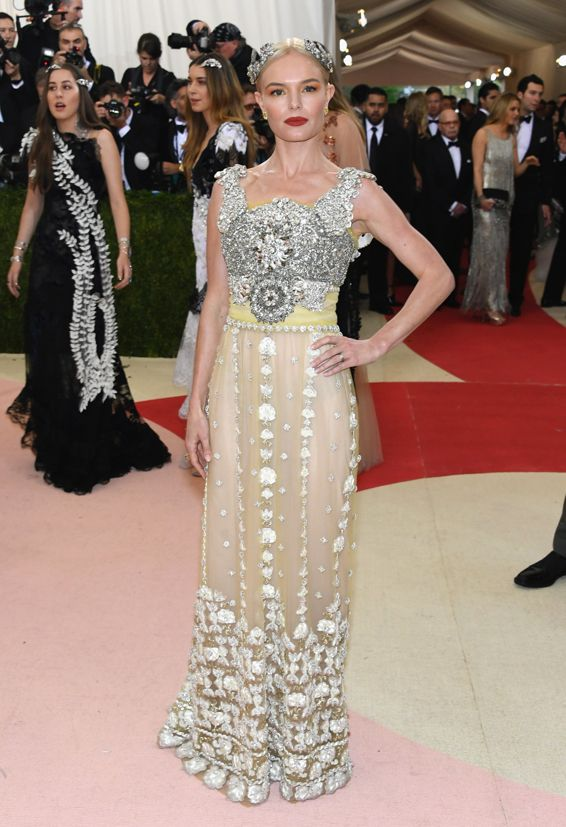 6d6c372f289d Kate Bosworth wearing Dolce and Gabbana at the 2016 Met Gala ...