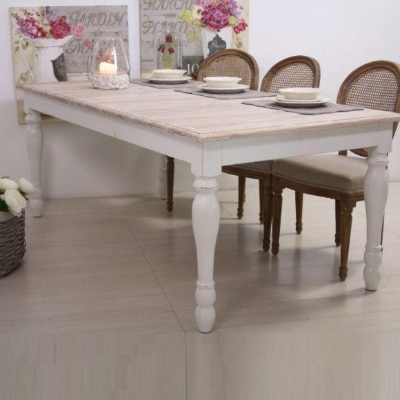 tavolo legno bianco shabby chic nel 2019 piazza italia