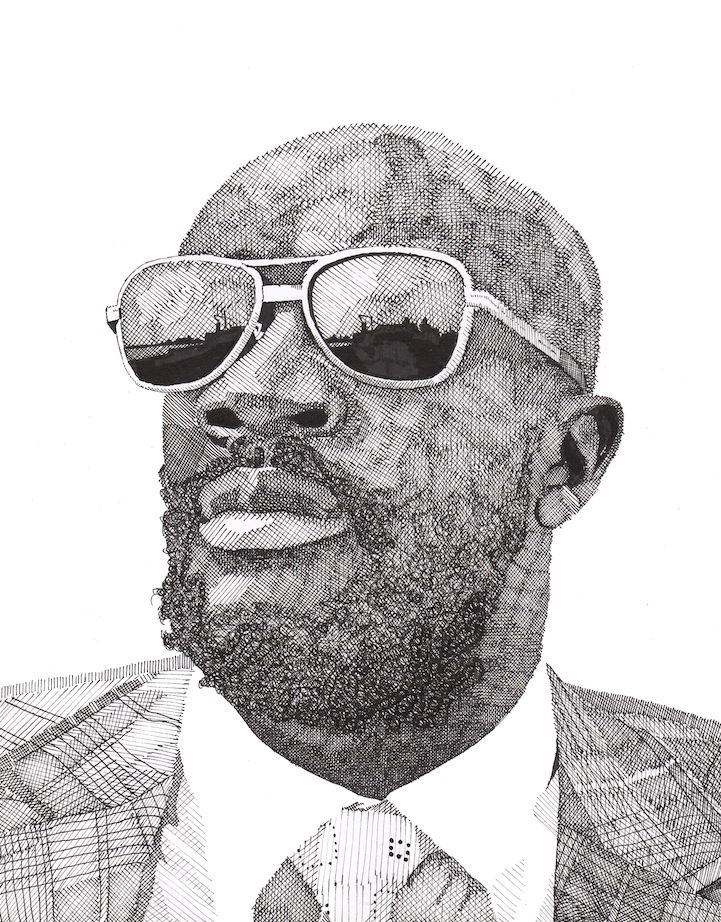 Hand Drawn Celebrity Portraits by Rik Reimert - My Modern Metropolis