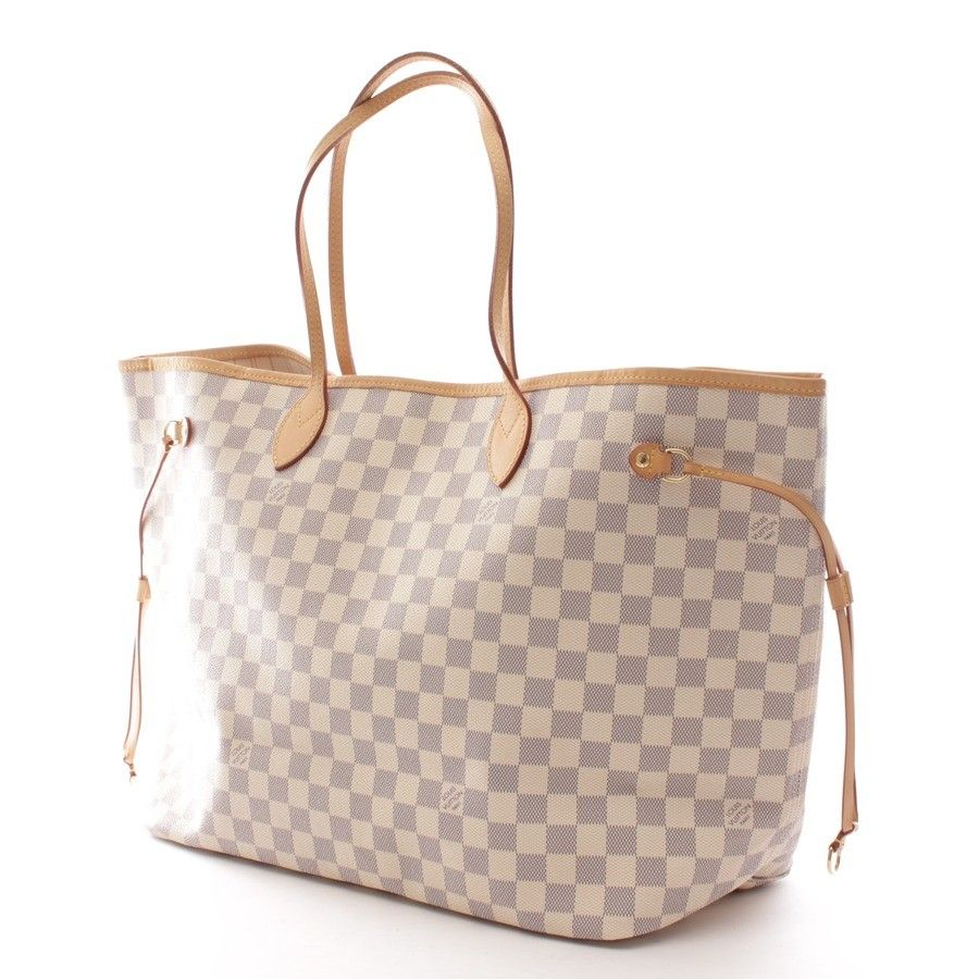 luxuri se handtasche von louis vuitton in beige modell neverfull gm bags bags bags. Black Bedroom Furniture Sets. Home Design Ideas