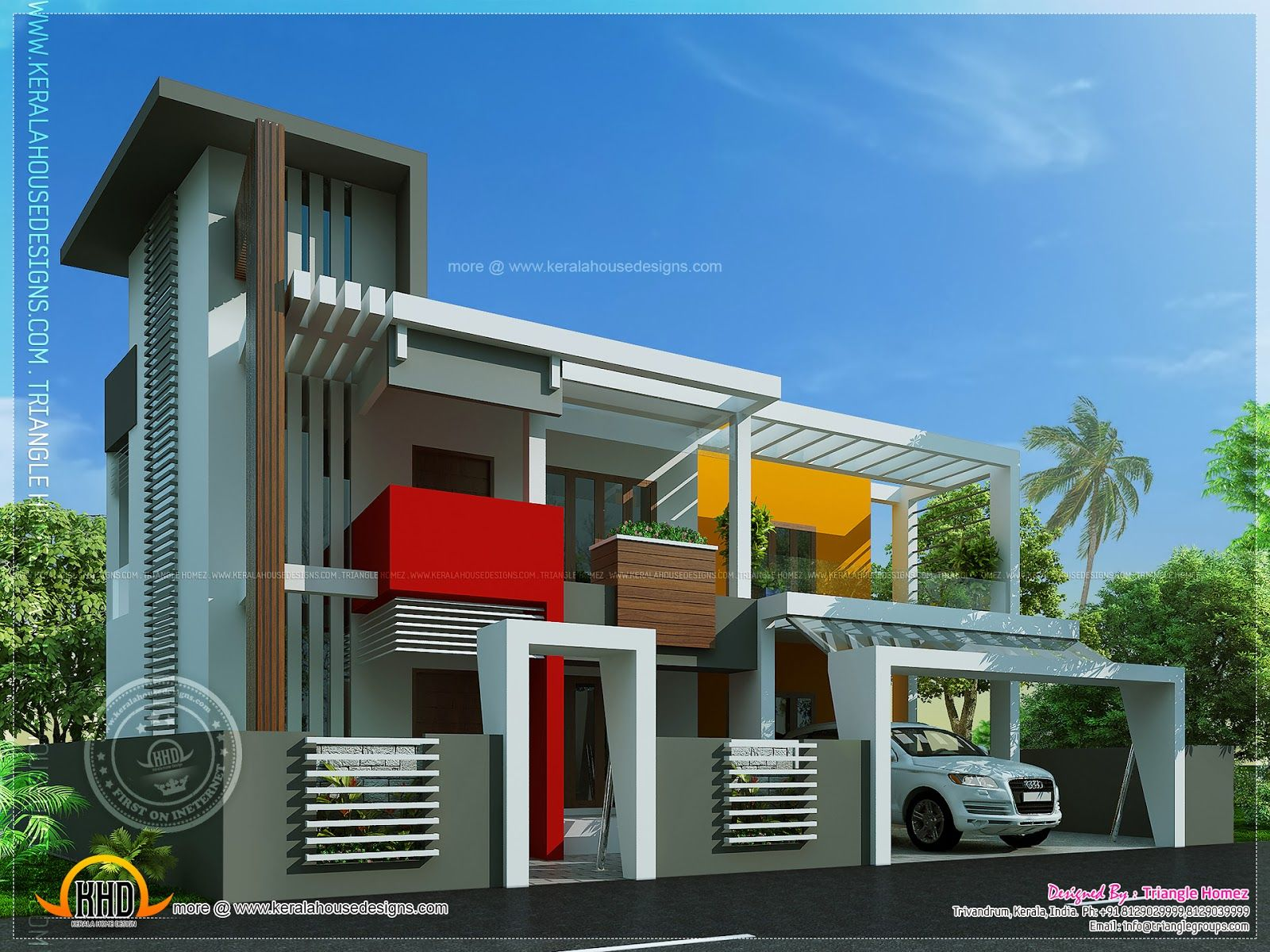 contemporary house unique design indian plans interior inspirations ...