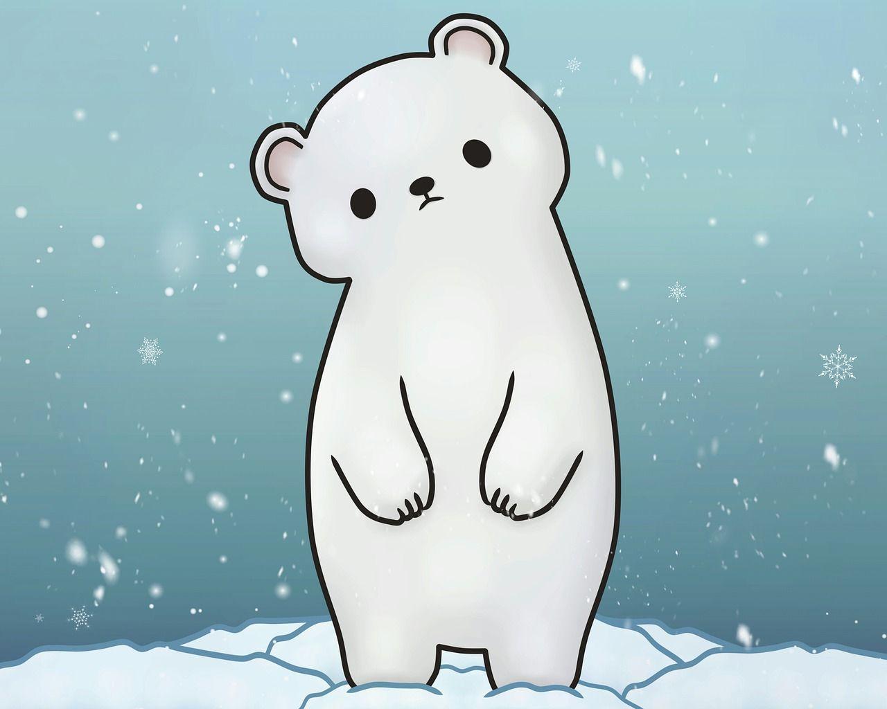 Free Image On Pixabay Polar Bear Snow Snowing Winter Polar Bear Cartoon Polar Bear Illustration Cute Polar Bear
