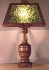 Custom hand made segmented wood lathe turned table lamps and custom custom hand made segmented wood lathe turned table lamps and custom lamp shades in wood aloadofball Choice Image