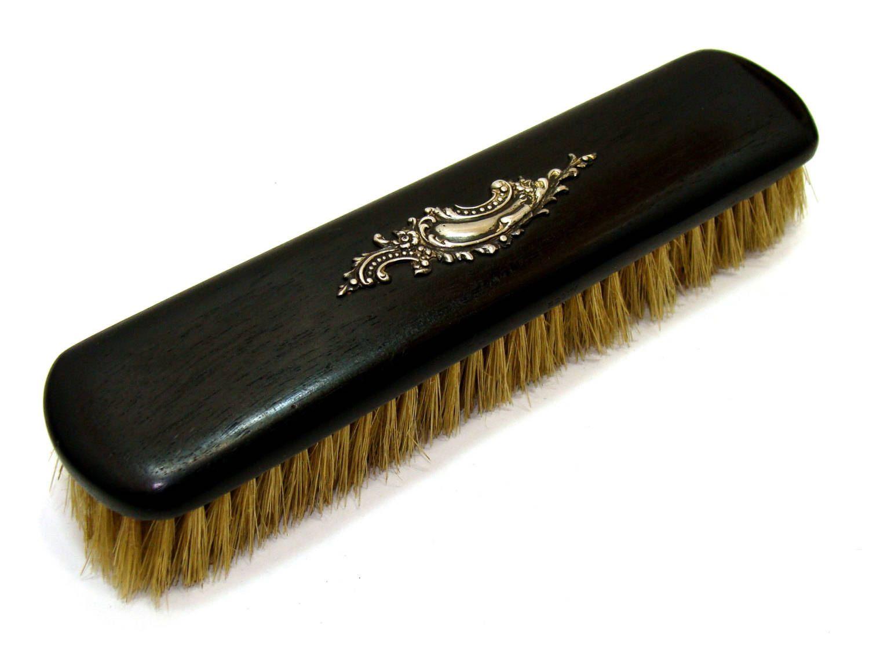 vintage sterling brush-old ebony wood sterling silver brush-antique