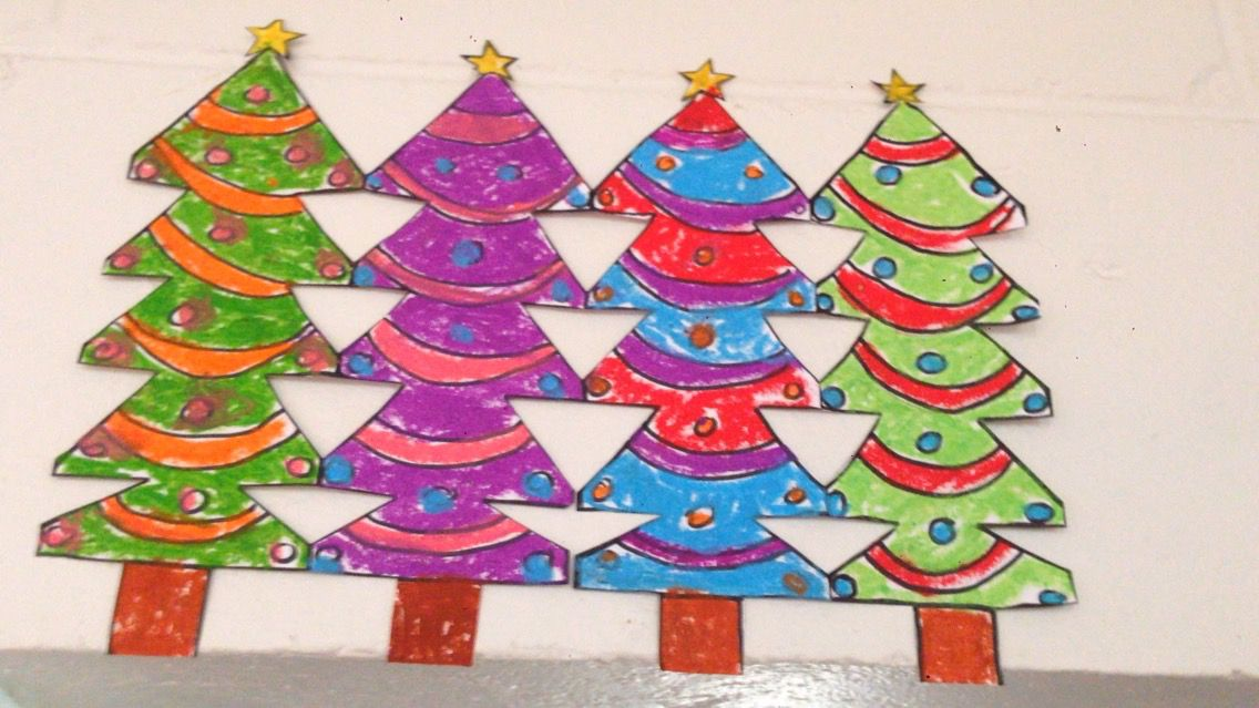 Easy to make Christmas decoration for the kids! Simply fold a piece