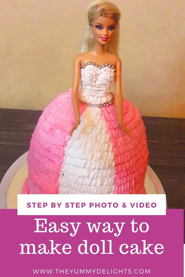 how to make barbie cakes in video