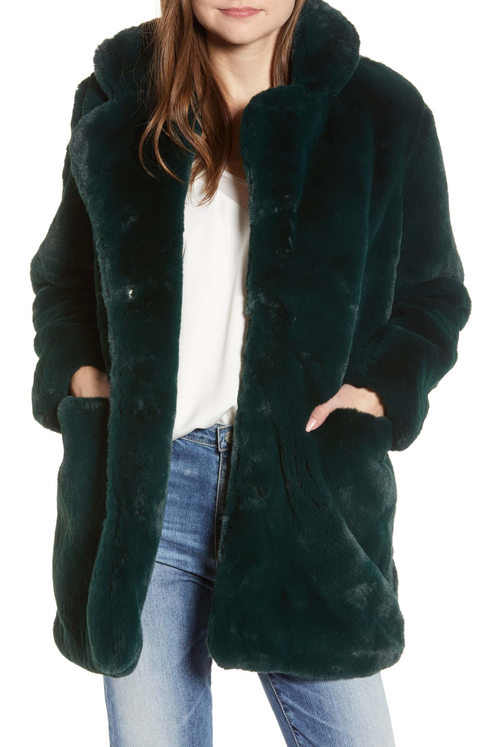 Apparis Sophie Faux Fur Coat Nordstrom Green Faux Fur Coat Fur Coat Fur Coat Outfit [ 2392 x 1560 Pixel ]