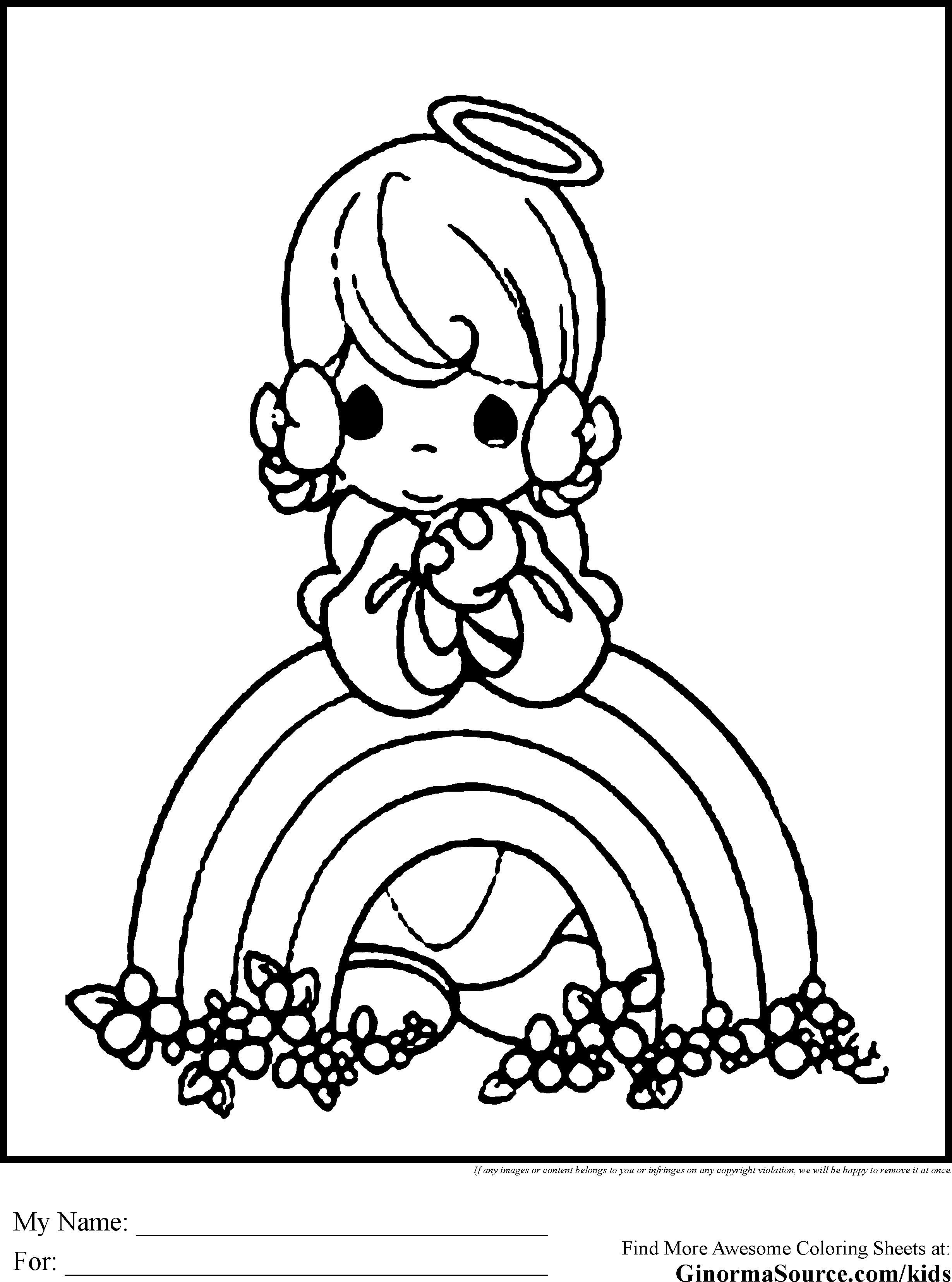 angel Coloring Pages  Cute Coloring Pages to Print
