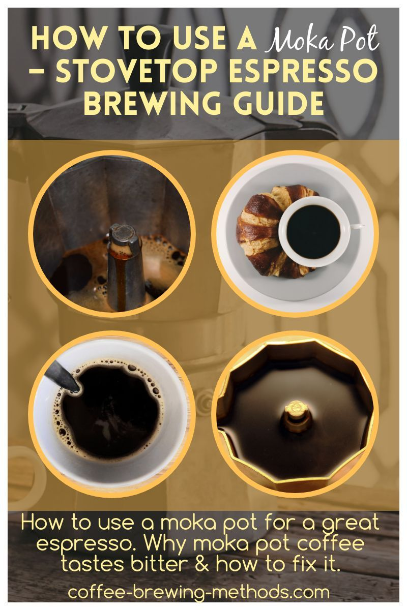 How to Use a Moka Pot Stovetop Espresso Brewing Guide in